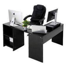 L-Form Arbeitstisch Schreibtisch Bürotisch Eckschreibtisch Computertisch Schwarz