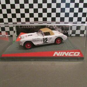 "Ninco, 1/32 scale, 1956-57 Covette convert, ""Panamericana""analog slot car, NEW!"
