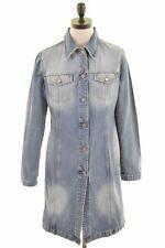 BENETTON Womens Denim Coat Size 12 Medium Blue Cotton  KV53