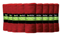 24 Pack Wholesale Warm Soft Fleece Blanket or Throw Blanket - 50 x 60 Inch