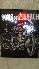 SONS OF ANARCHY CANVAS BACK LIT LED POSTER ON FRAME TV SERIES BATTERY OPERATED