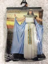 Cleopatra Womens Costume Dress Cape w/ Cuffs Collar Headpiece NEW Size Small 6-8