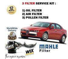 ALFA 159 1.9 JTS 2006- > service set Huile Air Filtre à Pollen Kit (3 x Filtres)