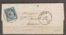 1876 Lettre Argenton P.VIER, c.station + 4201 bureau de passe sur n°60 X1111