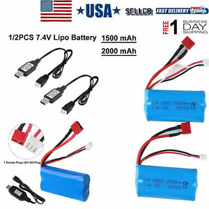7.4V Lipo Battery Deans T Plug USB Battery Charger for RC Car Truck Buggy Boat