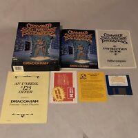 """UNTESTED Chamber Sci-Mutant Priestess Commodore Amiga 3.5"""" floppy COMPLETE CIB"""