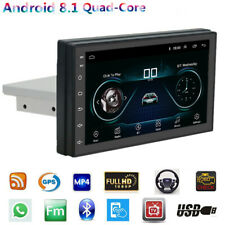 7 Inch Single Din Android 8.1 1080P GPS Quad-core Head Unit MP5 Player Universal
