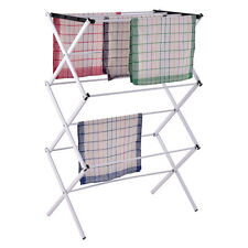 CLOTHES WINGED AIRER HORSE 3 TIER LAUNDRY TOWEL DRYER FOLDING OUT/INDOOR RACK