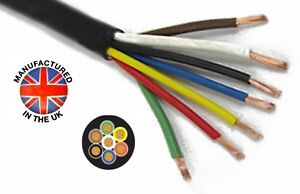 Thin Wall 7 CORE cable 7 x 0.75mm² (18AWG) 14amp, Auto, Marine,   TCC707TW