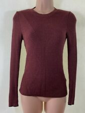 TOPSHOP toffee brown ribbed knit crewneck jumper size 10 euro 38