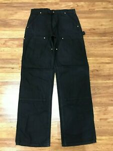 MENS 32 x 32 - Carhartt B01 Duck Double Knee Dungaree Fit Pants USA