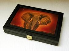Massivholzkassette 18 x 1oz Gold/Silber Somalia Elefant