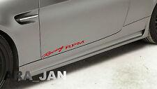 RACING RPM Vinyl Decal sport car skirt door sticker RED