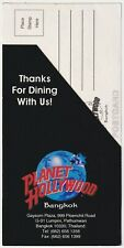 Vintage Planet Hollywood Bangkok Postcard & Feedback Card