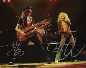 Jimmy Page and Robert Plant - Original Autographs - Hand Signed 8x10 w/ COA