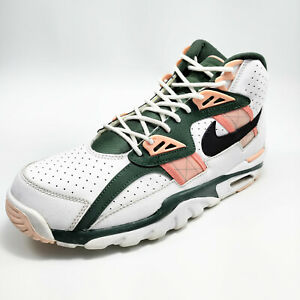 Nike Air Trainer SC High Pink Quartz Shoes Mens White / Green CU6672-100 SZ 9.5M