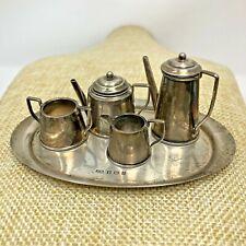 Antique Vintage Miniature Sterling Silver Dollhouse CoffeeTea John Rose