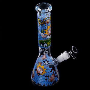 Rick & Morty 27cm Hookah Waterpipes 11 inch Glass Bong Tobacco Perc Smoke Bottle