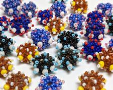 Woven Beads Bumpy Handmade Seed bead DIY Jewelry 20mm Mix Color 30 pcs
