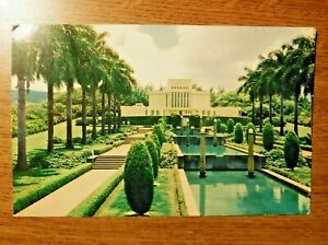 Antique Mormon Temple in Hawaii postcard, Posted