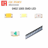 50 100pcs 0402 1005 SMT SMD LED Emitting Diodes White Blue Light Lamp Bulb