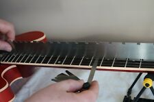 Guitar Notched Fret Rule Straight Edge. Guitar Set up luthier tools. UK, NEW..!