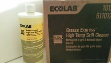 2 bottles 32 fl oz ea from Case Ecolab Grease Express High Temp Grill Cleaner