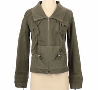 Anthropologie ITW by Claude Brown Green Stitched Lined Collared Zip Up Jacket 4