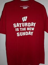 Wisconsin Badgers Red Short Sleeve T-shirt Size 2XL New Football Shirt