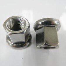 Pair Bike 14mm Axle Track Nuts With Swivel Washers Fits Front or Rear BMX Axles