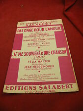 Partition Valse Pas d'Age pour l'Amour Auric Je me souviens d'une Chanson Moulin