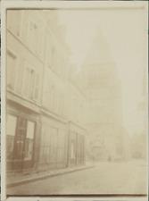 France, Église Saint Martial de Châteauroux (Indre)  Vintage citrate print.  T