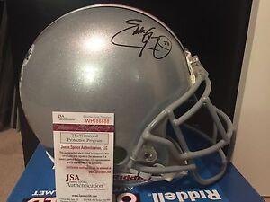 EDDIE GEORGE Signed Full Size F/S PROLINE Ohio State Helmet JSA Game Style