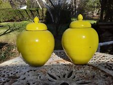 Rare Pair of Large Qing Dynasty Porcelain Yellow Covered Jars