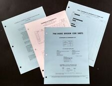 1968 Dodge Charger and R/T factory dealer code and options bulletin Mopar Hemi
