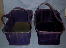 Lot 2 VTG Antique Old Handy Folding Dime Store Shopping Basket Hand Carry!