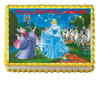 Cinderella Princess Edible Frosting Icing Cake Topper Image Decoration Party