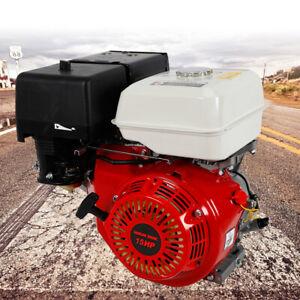 15HP Petrol Engine OHV Stationary Motor Horizontal Shaft Recoil Start 4 Stroke