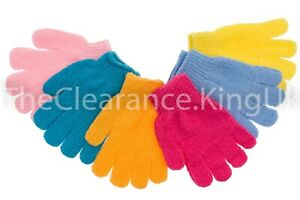 2 Exfoliating Body Scrub Gloves Shower Bath Mitt Skin Massage Spa