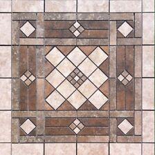 "26 5/8"" X 26 5/8"" Tile Medallion Inlay Mosaic - Daltile Levaro & Heathland tile"