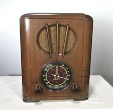 Antique Arvin tombstone vintage tube radio restored and working
