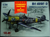 ICM 48102 - 1/48 BF 109F-2 German Fighter, WWII, plastic scale model kit