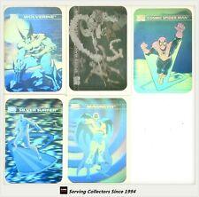 1990 Marvel Comics Trading Card Hologram Card Subset Full Set (5) (MH1-MH5)-RARE