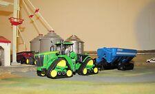 1/64 Ertl John Deere 9570RX Track Tractor & Kinze 1300 Grain Cart w/ Tracks