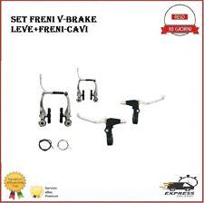 Set freni V-BRAKE bici mountain bike mtb ciclismo leve kit brake alluminio alloy