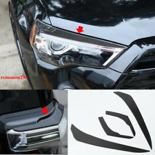 For Toyota 4Runner 2010-20 Soft Carbon Fiber Headlight Eyebrow Eyelid Cover Trim