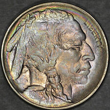 1913 Type 2 Buffalo Nickel 5C - Gem Uncirculated - Colorful Toning