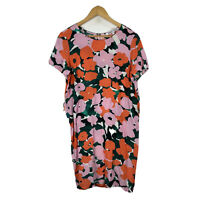 Variety Hour Dress Womens Small AU 12 Multicoloured Floral Short Sleeve No Belt