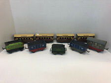 Vintage Tin Litho Train Cars x20 England, Japan and more lot with 8x track Rare