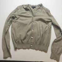 Banana Republic Brown Boyfriend Loose Slouchy Fit Cardigan Sweater Sz S A194